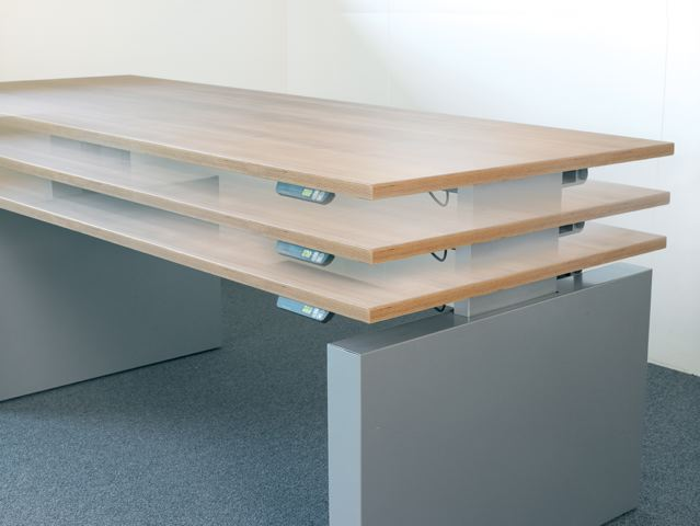 Steelnovel mobilier de bureau design avec r glage du for Bureau plan de travail